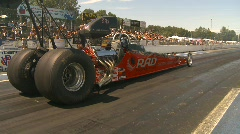Motorsports, drag racing dragster hard launch... nice! Stock Footage