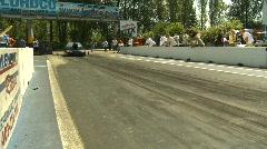 Motorsports, drag racing doorslammer burnout, Ford Thunderbird Stock Footage