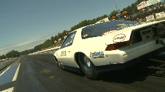 Motorsports, drag racing doorslammer launch dutch tilt, Gen 3 Camaro Stock Footage