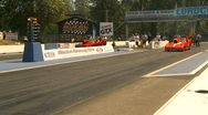Motorsports, drag racing promod launch, Mustang vs Corvette Stock Footage