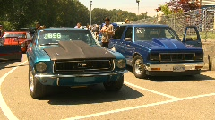 motorsports, drag racing cars in the staging lanes montage - stock footage