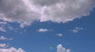 Clouds on a Sunny Day Stock Footage