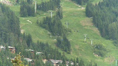Whistler Blackcomb ski hill, #1 Stock Footage