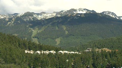 Whistler Blackcomb ski hill, #2 Stock Footage