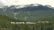 Stock Video Footage of Whistler Blackcomb ski hill, #2