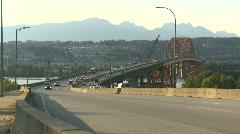 Traffic on Vancouver's Port Mann bridge  Stock Footage