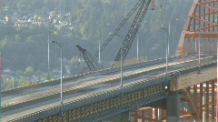 Time-lapse, traffic on Vancouver's Port Mann bridge  Stock Footage