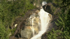 River and waterfall, Shannon Falls, #1 Stock Footage
