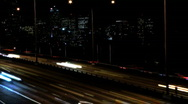Freeway time lapse night Stock Footage