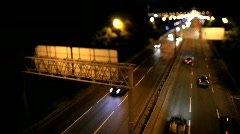 timelapse movement of cars on highway with tilt-shift - stock footage