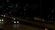 Stock Video Footage of freeway time lapse night