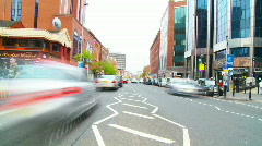 Traffic Time Lapse - busy street (HD) Stock Footage