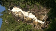 Stock Video Footage of river and waterfall, Shannon Falls, #5