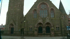 Protestant Church in Belfast, Northern Ireland Stock Footage
