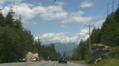 Drive plate, Sea to sky highway drive Stock Footage