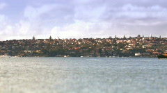 Sydney ferry with effects Stock Footage