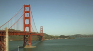 Stock Video Footage of gg_bridge_wide02