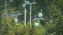 Whistler blackcomb hill ski lifts 2shot Stock Footage