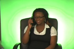Beautiful Busineswoman with Cell Phone (a) Stock Footage