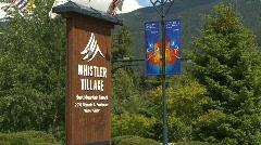 Whistler village montage Stock Footage