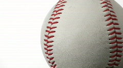 Baseball against white with copy space - HD Stock Footage