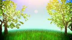 Apple trees loop Stock Footage