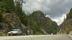 Sea to sky highway Stock Footage