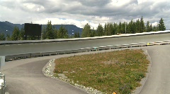 whistler bobsled track - stock footage