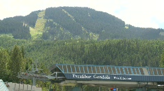 Whistler blackcomb hill montage Stock Footage