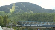 Stock Video Footage of whistler blackcomb hill montage