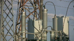 Electric transformers. Timelapse. Stock Footage