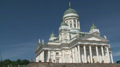 Helsinki cathedral Stock Footage