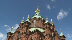 Uspensky Cathedral Helsinki timelapse Stock Footage