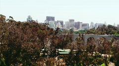 San Diego Skyline from Zoo Stock Footage