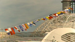 Flag, cruise ship flags Stock Footage