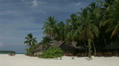 Resort on a Paradise Island Stock Footage