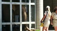 Elepahnt behind bars HD Stock Footage