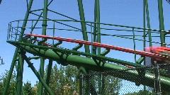 Jm805-rollercoaster sideride2 Stock Footage
