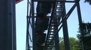 Jm809-rollercoaster goingup Stock Footage