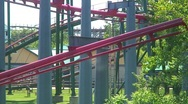 Jm812-rollercoaster ride Stock Footage