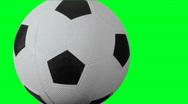 Stock Video Footage of Soccer Ball - green screen