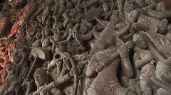 Panel of carvings 30 Stock Footage