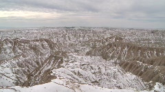 P00184 Badlands National Park in Winter Stock Footage