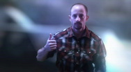 Casey Hitchhiker hitch hiking thumbs up 4 Stock Footage