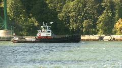 Maritime transportation, tug boat follow shot Stock Footage