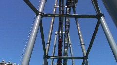 Jm819-fast rollercoaster Stock Footage