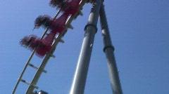 Jm820-fast rollercoaster2 Stock Footage