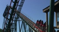 Jm821-rollercoaster going up Stock Footage