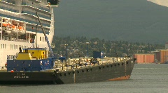 Maritime transportation, industrial barge Stock Footage