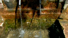 Water flows from the pipe 2 Stock Footage